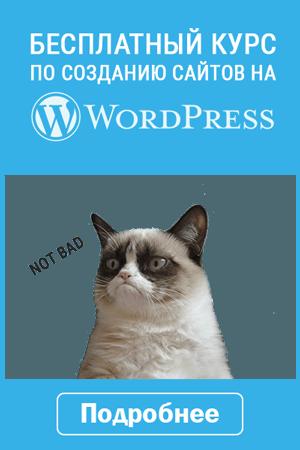 Бесплатный курс по созданию сайтов на Вордпресс