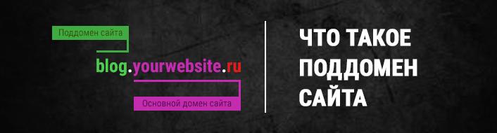 Что такое поддомен сайта в интернете